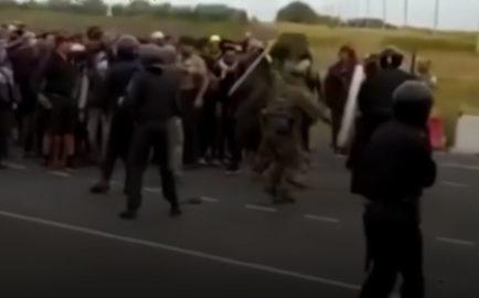 Столкновения с мигрантами в Самарской области (источник иллюстрации стоп кадр видео)
