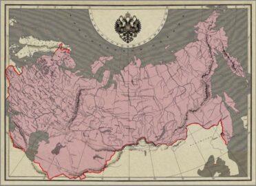 Карта Российской Империи (иллюстрация из открытых источников)