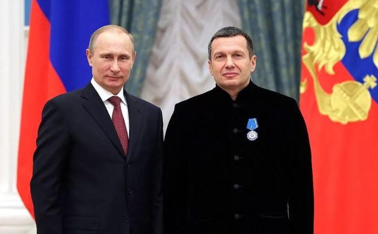 Путин и Соловьёв (иллюстрация из открытых источников)