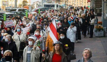 Пенсионеры на протестах в Белоруссии (иллюстрация из открытых источников)