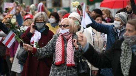Протестующие в Белоруссии (иллюстрация из открытых источников)