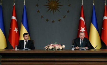 Зеленский и Эрдоган на брифинге в Анкаре