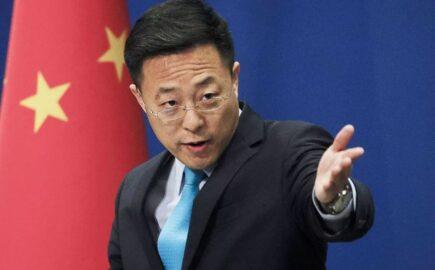 Пресс-секретарь МИД Китая Чжао Лицзянь (иллюстрация из открытых источников)