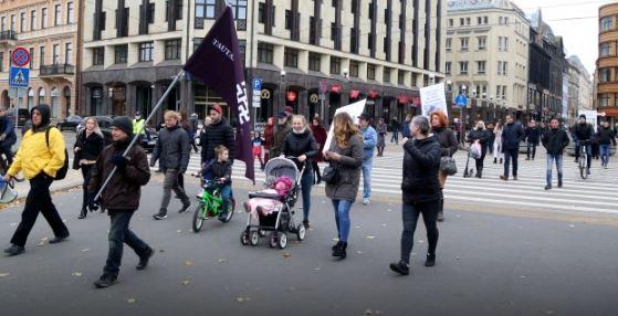 Рига. Акция против обязательного ношения масок (иллюстрация из открытых источников)