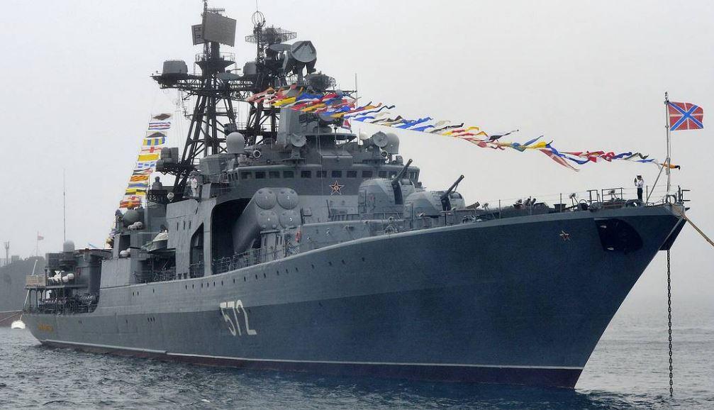 Российский большой противолодочный эскадренный миноносец «Адмирал Виноградов» (иллюстрация из открытых источников)