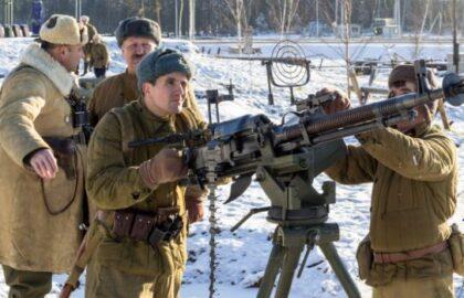 """Алабино. Парк """"Патриот"""" Реконструкция битвы под Москвой в 1941 году (фото Минобороны РФ)"""