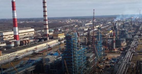 Новополоцкий НПЗ (скриншот видео)