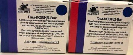 Упаковка вакцины от коронавируса Спутник V (иллюстрация из открытых источников)