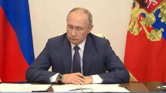 В.В. Путин на открытии медцентров Минобороны РФ. 2 декабря 2020 г. (скриншот видео)