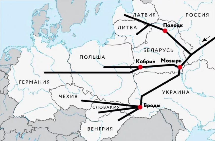 «Дружба» – крупнейшая в мире система магистральных нефтепроводов из России в Европу