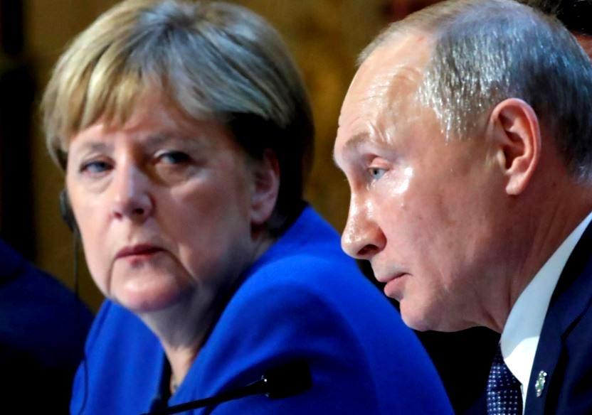 Меркель и Путин (иллюстрация из открытых источников)