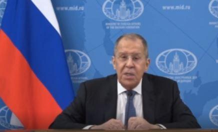 Пресс-конференция С. Лаврова 18.01.2021 г. (скриншот видео)