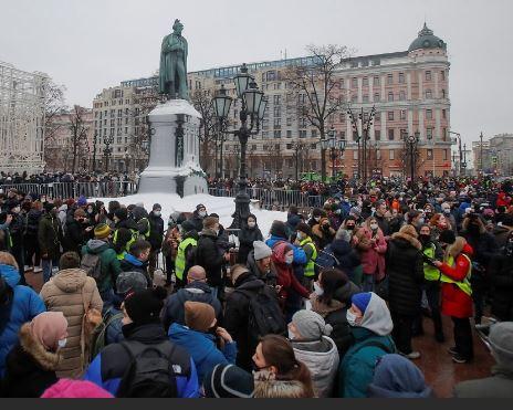 Протесты в поддержку Навального. 23.01.2021 г. (иллюстрация из открытых источников)