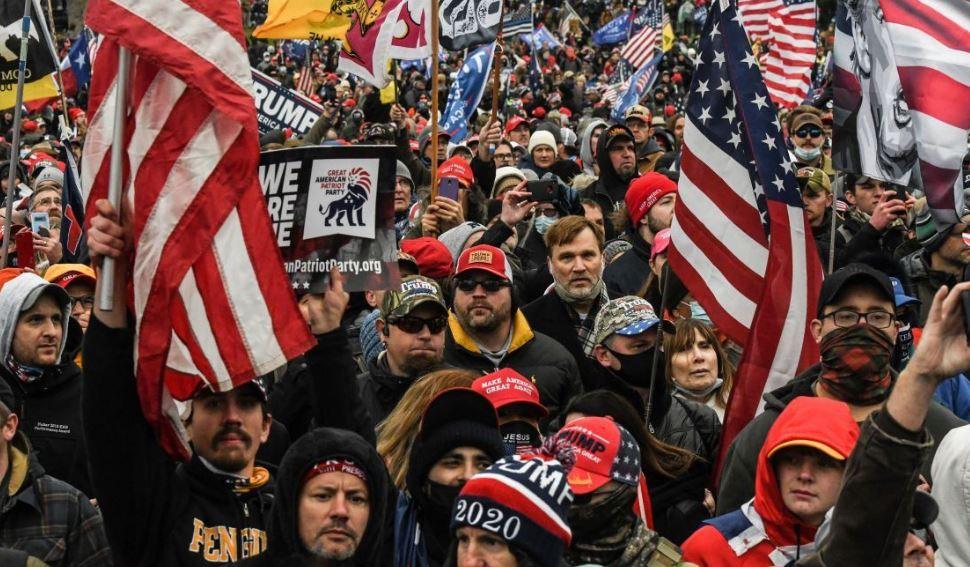 Протесты в США в поддержку президента Дональда Трампа, 6 января 2021 года (иллюстрация из открытых источников)