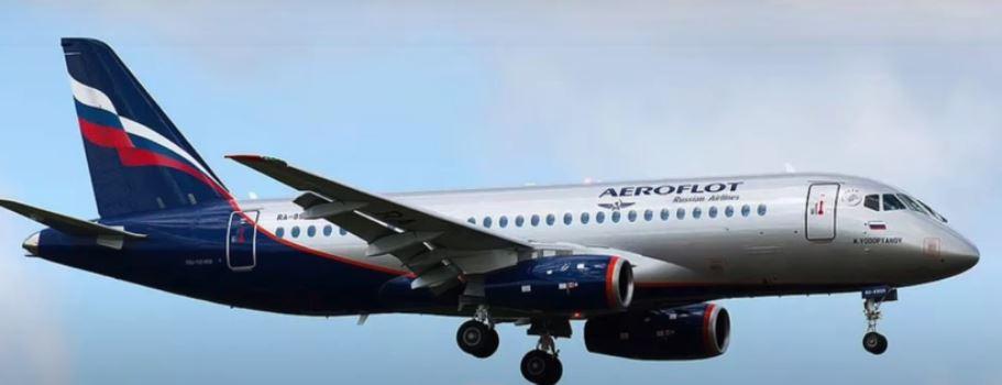 самолёт Аэрофлота (скриншот видео)