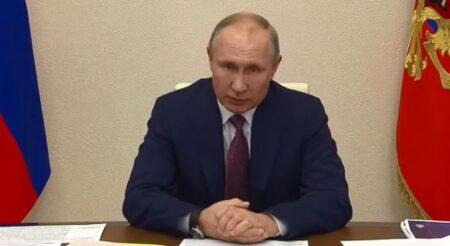 В. Путин. Совещание с вице-премьерами 13.01.2021 г. (скриншот видео)