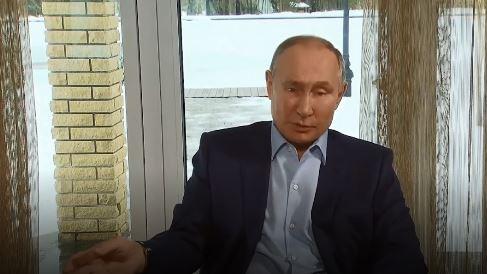 Видеоконференция В. Путина со студентами российских вузов 25.01.2021 г. (скриншот видео)