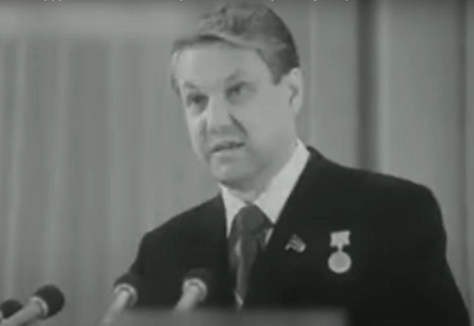 Борис Ельцин (иллюстрация - стоп-кадр видео)