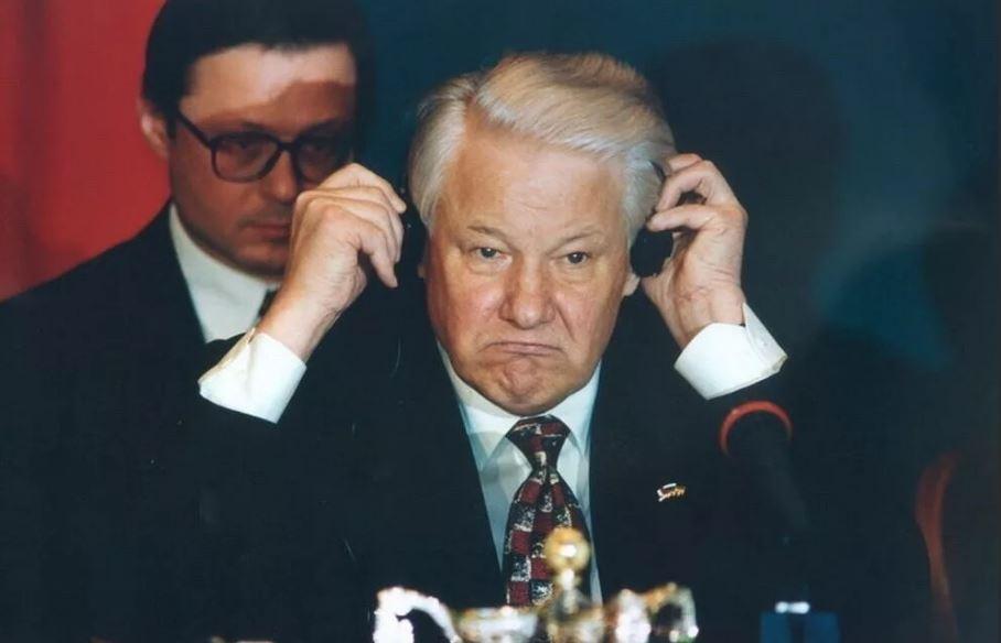 Ельцин в США (иллюстрация из открытых источников)