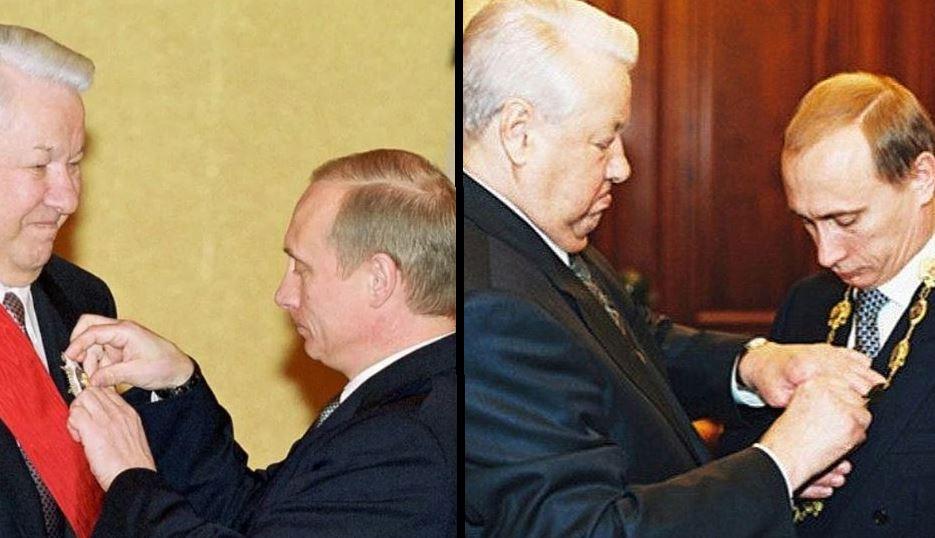 Путин и Ельцин (иллюстрация из открытых источников)