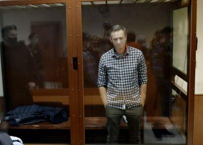 Суд над Алесеем Навальным, который обвиняется в клевете в отношении ветерана ВОВ Игната Артеенко. 20.02.2021 г. (фото из открытых источников)