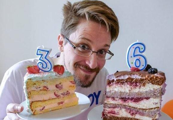Эдвард Сноуден, фото 2019 года, когда ему исполнилось 36 лет (источник - Инстаграм)