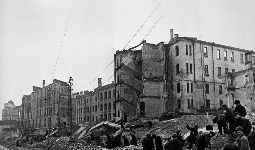 Руины освобождённого от фашистов Киева, ноябрь 1944 г (иллюстрация из открытых источников)