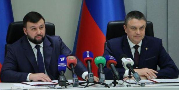 Руководители ДНР и ЛНР высказались о возможной корректировке минского формата (фото Пушилина и Пасечника, Twitter)