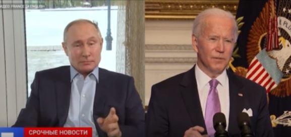 Кремль анонсировал встречу Путина и Байдена (скриншот видео)