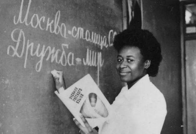 Африканская студентка в СССР (иллюстрация из открытых источников)