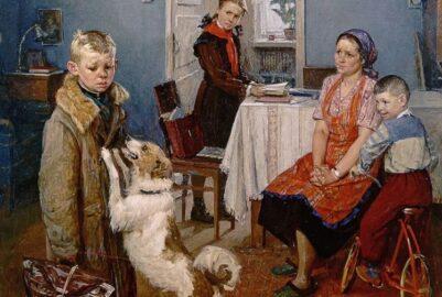 Картина «Опять двойка» , художник Фёдор Решетников