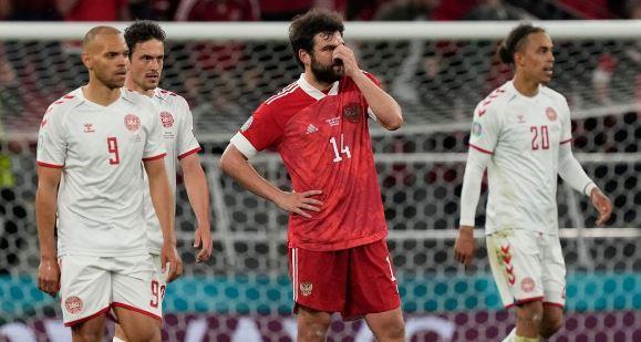 Россияне проиграли датчанам в матче на Евро-2020 (фото с сайта eurostavka)