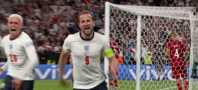 Англия вышла в финал Евро-2020 (скриншот видео матча Англия - Дания)
