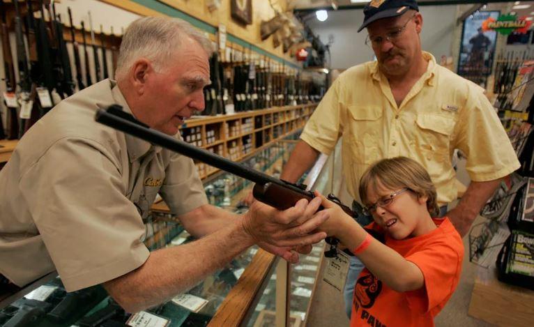 Оружейный магазин в США (иллюстрация из открытых источников)