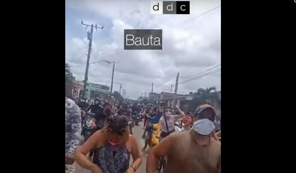 Протесты на Кубе (скриншот видео - РОСГОД)