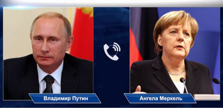 Путин и Меркель обсудили по телефону итоги переговоров Германии и США по Северному потоку 2 (иллюстрация из открытых источников)