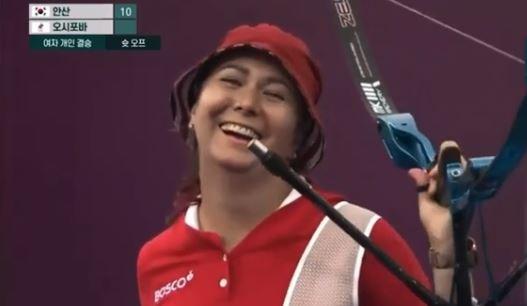 Серебряный призёр Олимпиады в Токио лучница Елена Осипова (скриншот видео соревнований)