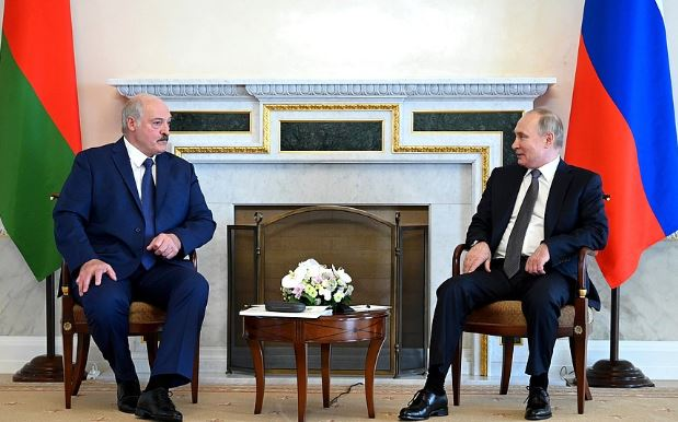 В Санкт-Петербурге состоялась встреча Путина и Лукашенко (фото с сайта Кремля)