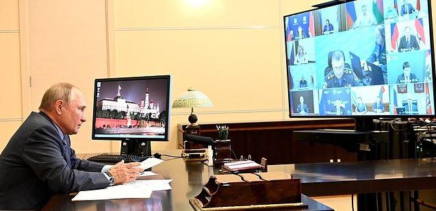 Путин заявил о беспрецедентном масштабе стихийных бедствий в регионах (фото с сайта Кремля)