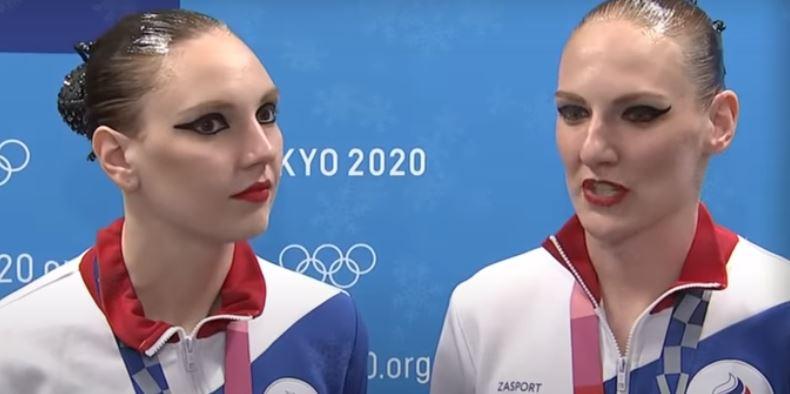Российские синхронистки Светлана Колесниченко и Светлана Ромашина - олимпийские чемпионки Токио (скриншот видео, интервью)