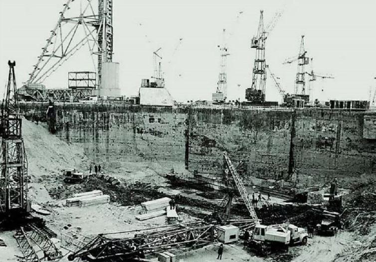 Строительство космодрома «Байконур» 1955 год, СССР (иллюстрация из открытых источников)