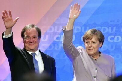 Армин Лашет и Ангела Меркель (иллюстрация из открытых источников)